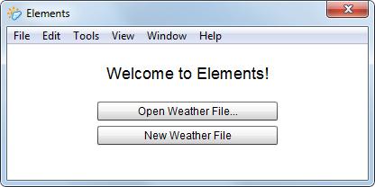 نرم افزار Elements جهت ویرایش فایل های اقلیمی